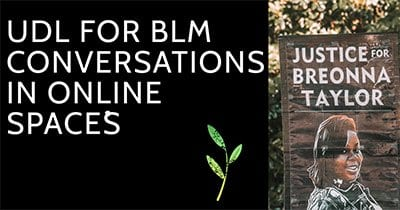 UDL for BLM Conversations in Online Spaces Resource Cover